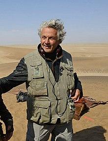 George Miller in Australia durante le riprese di Fury Road nel 2012.