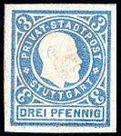 Germany Stuttgart 1889 local stamp 3pf - 18.jpg