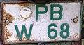 Germany license plate PB W 68 tax exempt.jpg