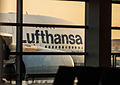 Giant Lufthansa A380 makes a slow pass by Frankfurt terminal A (8077157387).jpg