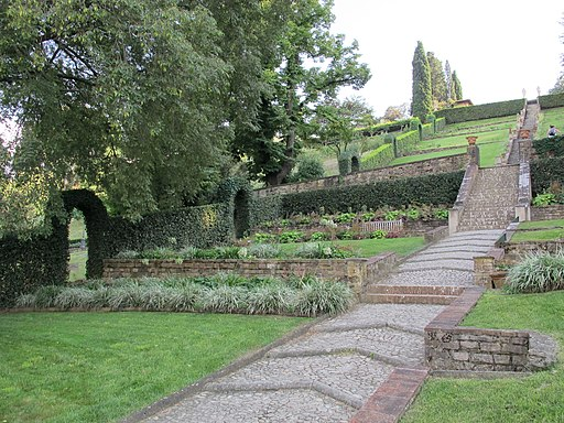 Firenze, Giardino Bardini, scalinata