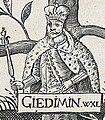 Giedzimin. Гедзімін (A. Tarasievič, 1675).jpg