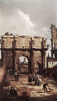 Giovanni Antonio Canal, il Canaletto - Rome - The Arch of Constantine - WGA03924.jpg