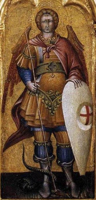 Kite shield - Image: Giovanni di Paolo St Michael the Archangel WGA09465