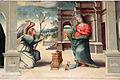 Giovanni larciani, visitazione, annunciazione s. giuseppe con eterno nella lunetta, 1526, 04 da a.del sarto.JPG