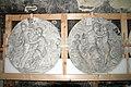 Gipsmodelle Wiener Historismus Hofburg-Keller 2012 06 Medaillons mit Pan und Nymphen.jpg