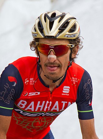 Franco Pellizotti - Pellizotti at the 2017 Giro d'Italia