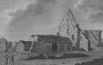 Glenluce Abbey - Pl.2. The abbey ruins in 1789
