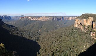 Grose Valley vom Govetts Leap bei Blackheath aus