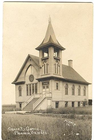 Prairie View, Lake County, Illinois - Image: Grace Evangelical Church, Prairie View, Illinois