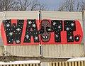 Graffiti Villach, Eisenbahnstrecke Haupt - Westbahnhof auf Höhe Willroider Parkplatz.jpg