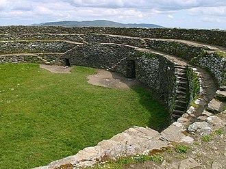 Grianan of Aileach - Interior view of Grianan of Aileach