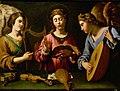Grammatica, Antiveduto della. Singende HL. Cäcilia mit zwei musizierenden Engeln. Kunsthistorisches Museum.jpg