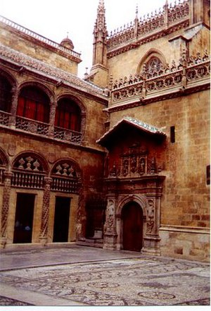 Isabelline Gothic - Entrance to the Royal Chapel of Granada.