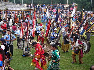 The Lake Superior Chippewa Pow Wow at the Gran...