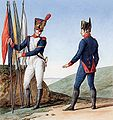 Grande Armée - Line Infantry Grenadier Fouriers with Battalion Fanions.jpg