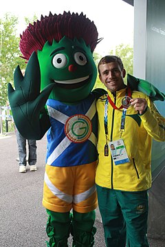 Grant Nel and Commonwealth Games 2014 Mascot.jpg