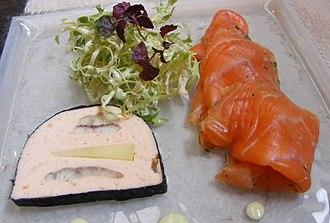 Salmon as food - Image: Gravad lax