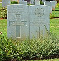 Gravestones on the Souda Bay War Cemetery, Crete. Greece.jpg