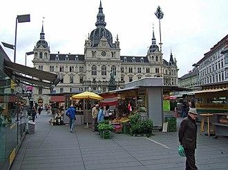 Innere Stadt (Graz) - Hauptplatz and the Rathaus