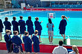 Great Britain U17 Water Polo Captain Izzy Dean leads team out.jpg
