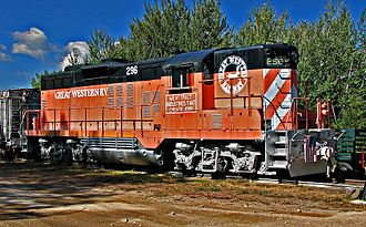 Great Western Railway of Colorado - Image: Great Western RY GP9 296
