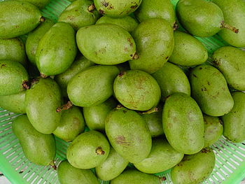 Native green mangoes from the Philippines