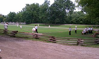 Vintage base ball - A vintage base ball game underway at Greenfield Village in 2011.