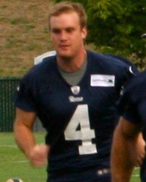 Greg Zuerlein (American football) - Zuerlein during Rams 2012 Training camp.