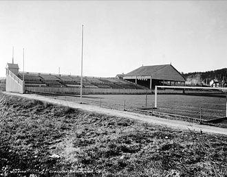 Gressbanen - Gressbanen's grandstand in 1925