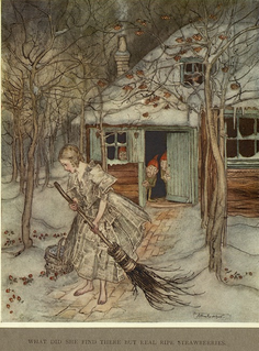 The Three Little Men in the Wood Grimm Bros. fairy tale