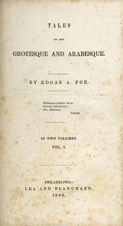 <i>Tales of the Grotesque and Arabesque</i> 1840 book by Edgar Allan Poe