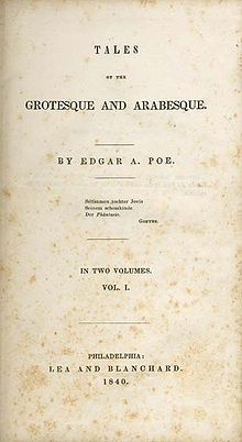 Tales Of The Grotesque And Arabesque  Wikipedia Tales Of The Grotesque And Arabesque Help Assignment also A Level English Essay  Thesis Statement For Comparison Essay