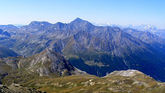 Cottian Alps - The Northern Cottian Alps from Pointe Clairy