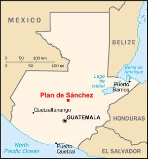 Plan de Sánchez massacre - Plan de Sánchez lies in central Guatemala