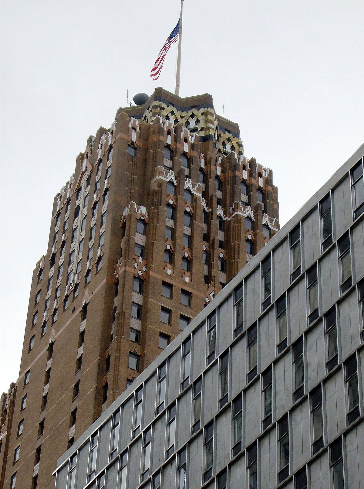 Guardian Building with flag - Detroit Michigan.jpg