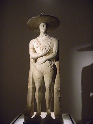 Picentes - Statue of the Capestrano Warrior at Chieti Museum.