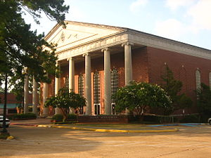 Louisiana College - Guinn Auditorium, named for former LC President Earl Guinn