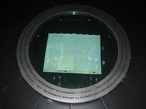Arthur Guinness - The 9,000-year lease on display