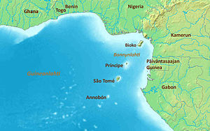 The Gulf of Guinea without labels. Map modifie...