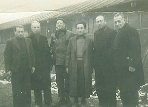 Gurs internment camp - Internees in Gurs internment camp, some of them Jews, January 1941