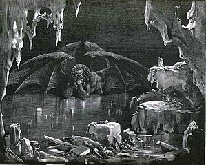 Cocytus - Dante's Cocytus, as illustrated by Gustave Doré (1832-1883).