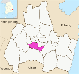 Hwangnam-dong - Image: Gyeongju map Hwangnam dong 01