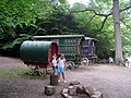 Gypsy Caravans in the Enchanted Forest, Groombridge Place - geograph.org.uk - 1435101.jpg