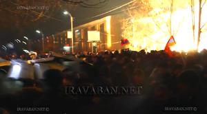2015 Gyumri massacre - Image: Gyumri Jan 15, 2015 police protesters
