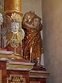Höxter, Corvey, St. Stephanus und Vitus, Seitenaltar rechts, Teilansicht.JPG