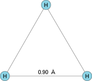 Trihydrogen cation - Image: H3cation struct