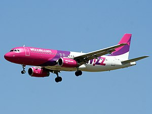 Wizz Air - Wizz Air Airbus A320-200 wearing the company's former livery