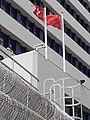 HK 荃灣 Tsuen Wan 荃景圍 Tsuen King Circuit 荃灣警署 Tsuen Wan Police Station flagpoles January 2021 SS2 09.jpg