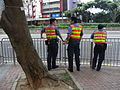 HK Causeway Bay 禮頓道 Leighton Road 民安隊 Civil Aid Service at work on duty Aug-2010.JPG
